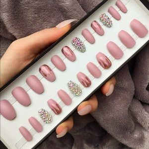 Sheer pink matte luxury nail kit BNIB